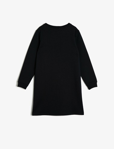 Koton Kids Pul Detayli Elbise Siyah